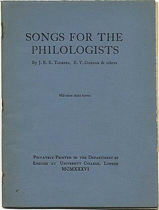 Tolkien Songs For Philologists
