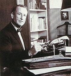 Ian Fleming and his gold plated typewriter