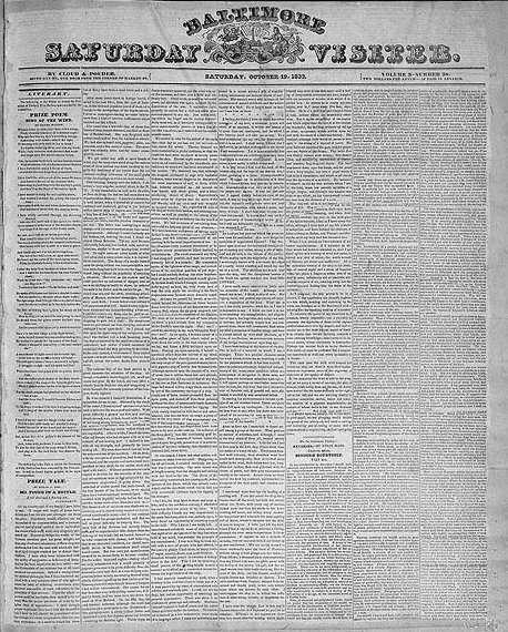 Baltimore_Saturday_Visiter,_October_19,_1833,_Prize_tale