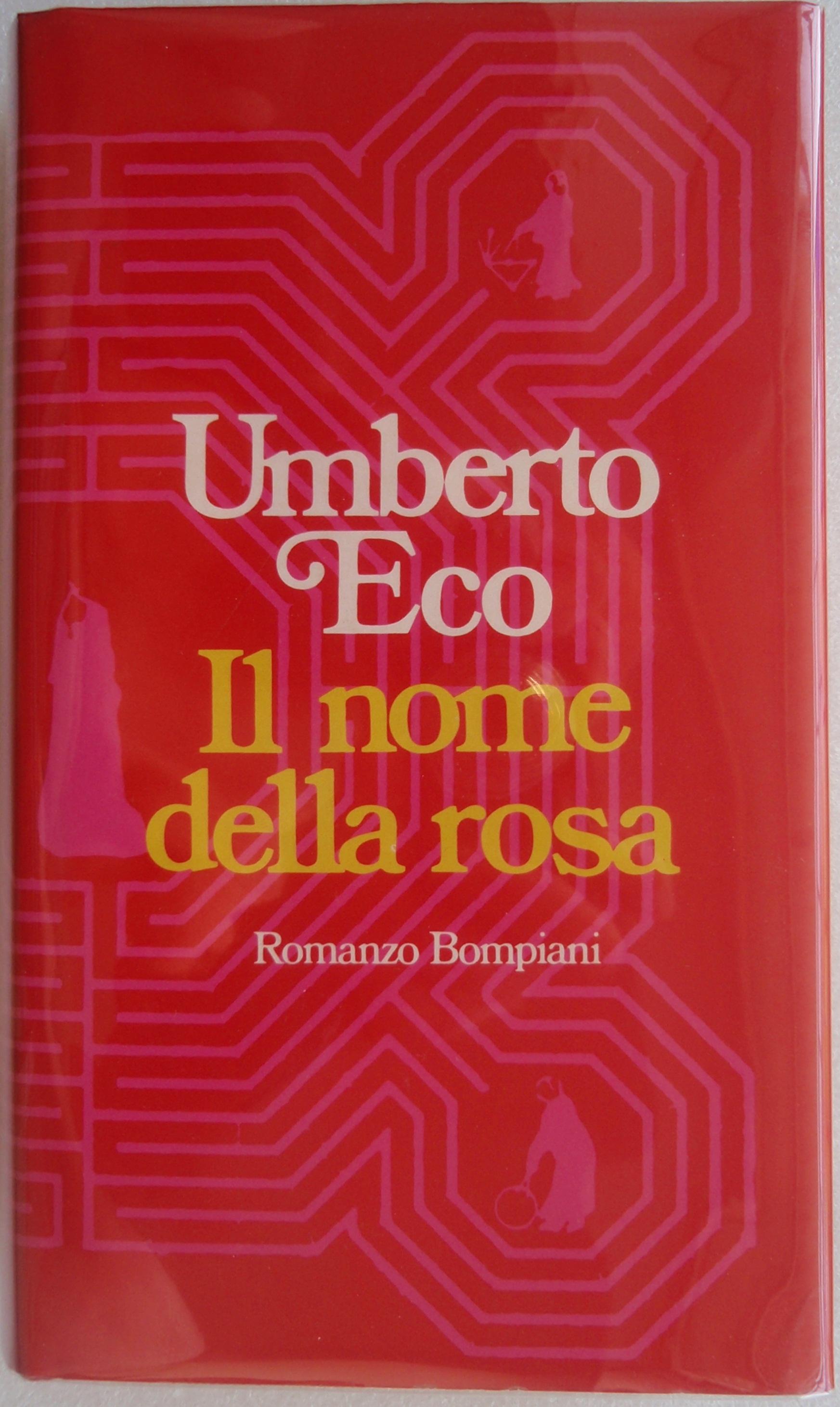 Umberto_Ecos_famous_first_novel_Il_Nome_della_Rosa_(Bompianis_copy_No._9069)._The_book_...