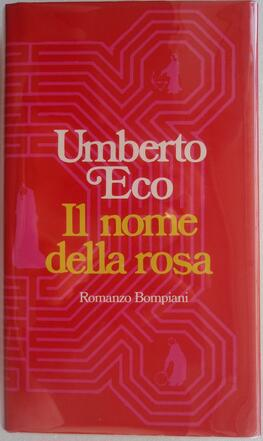 Umberto_Ecos_famous_first_novel_Il_Nome_della_Rosa_(Bompianis_copy_No._9069)._The_book_...