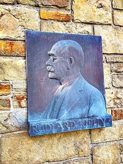 A likeness of Rudyard Kipling.