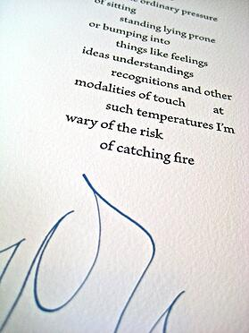 In A Single Gesture: poems by Alan Loney letterpressed in collaboration with several fine press artists.
