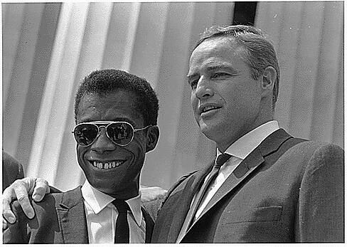 Baldwin_Brando_Civil_Rights_March_1963