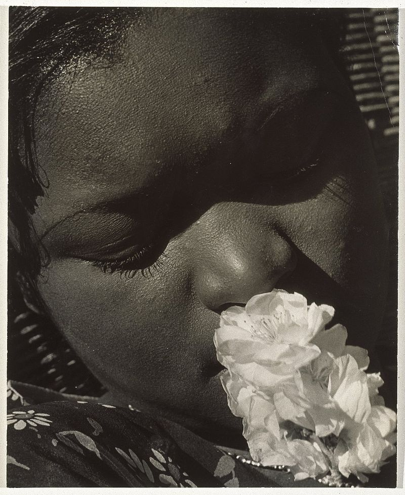 Consuelo_Kanaga_(American,_1894-1978)._Frances_with_a_Flower,_early_1930s