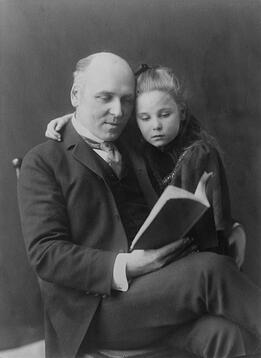 Howard_Pyle_and_daughter_Phoebe_Johnston_PD.jpg