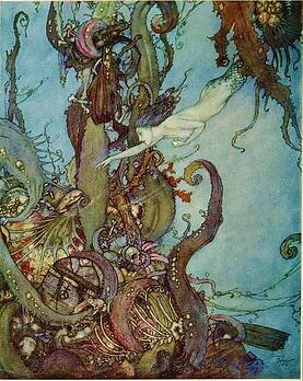 Little_Mermaid_mermaids_treasures_Edmund_Dulac_for_Andersen