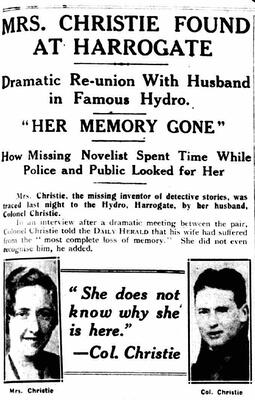 agatha christie missing