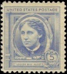 louisa may alcott stamp