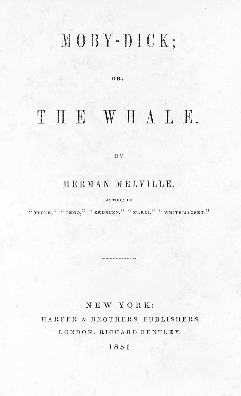 Collecting Melville's Masterpiece: Moby Dick
